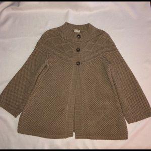 JOIE  Knit Tan Cardigan Size M.